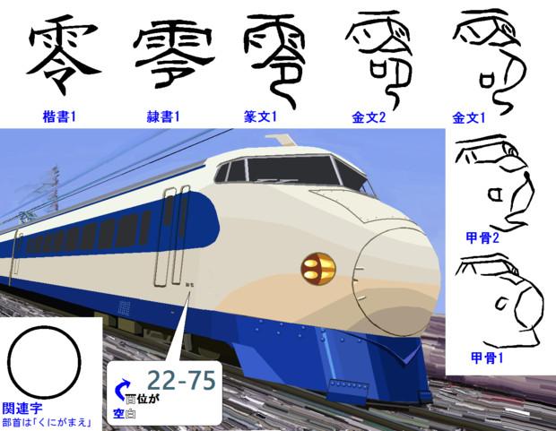 漢字の成り立ち「零」