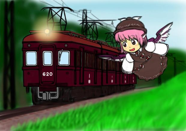 夜雀と古い電車
