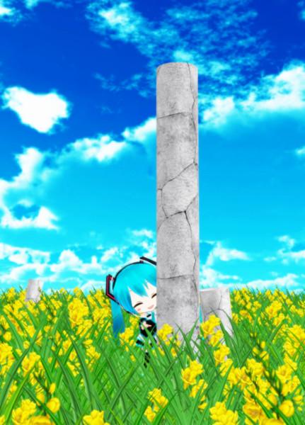 【MMDモデル配布】石の柱