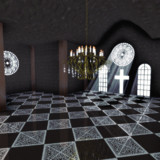 【ステージ配布】十字架と窓のステージ