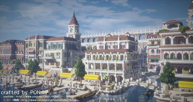 【Minecraft】cocricotで水上都市を生やしてみた