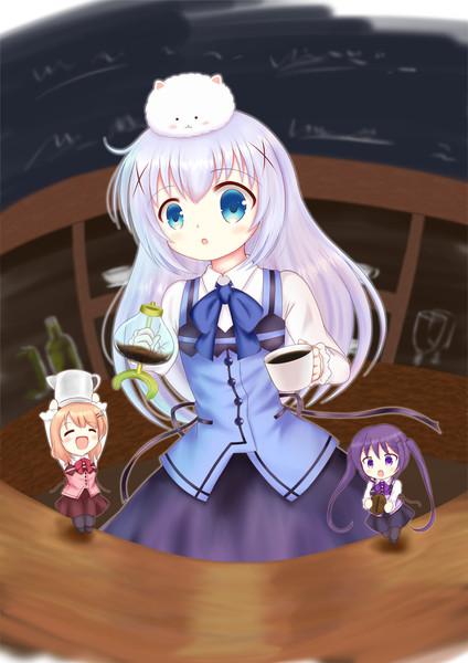 チノちゃん(と、ちっちゃいココアさんとリゼさん)
