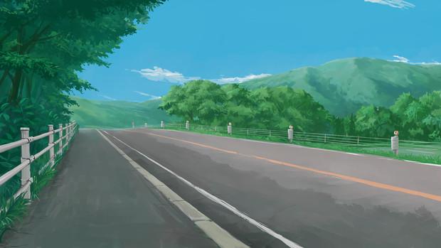 背景道路坂道 Kjj さんのイラスト ニコニコ静画 イラスト