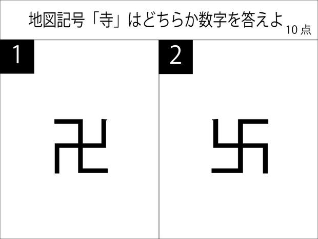 寺の地図記号はどっち?