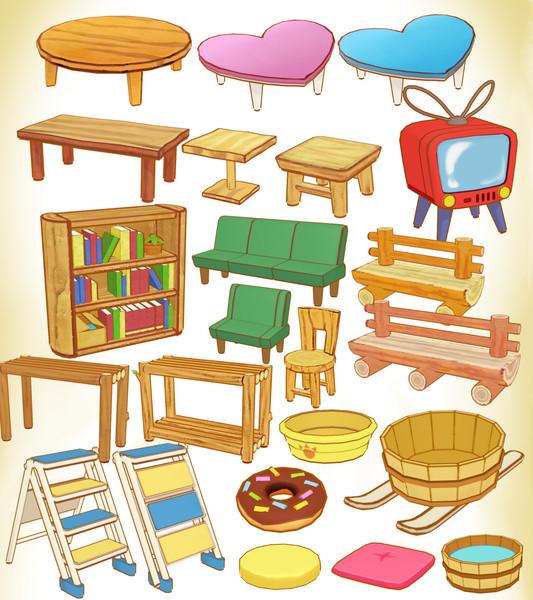 ぱびりおん家具セットve1.0