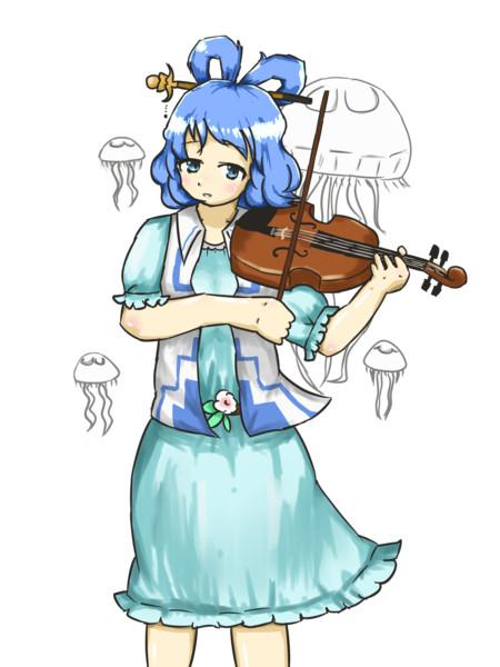 クラゲとバイオリンを弾く青娥