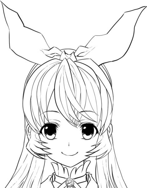 アイカツ塗り絵星宮いちごちゃん簡易版 ニコニコ静画 イラスト