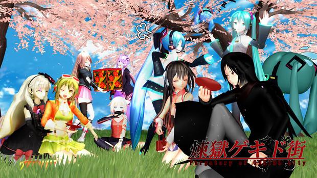 桜の花と自警団
