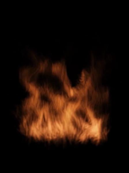 拡大する炎
