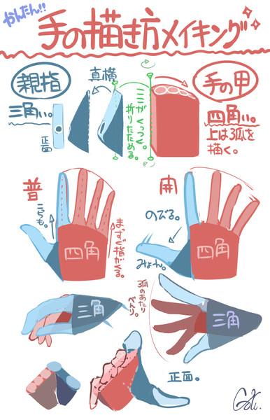 簡単な手の描き方メイキング