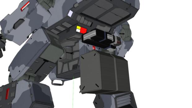 試作装備:腰部サブアーム式予備弾倉ホルダー