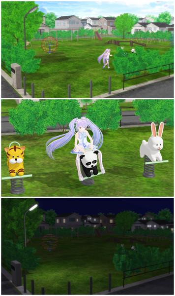 【MMD】児童公園【ステージ配布】