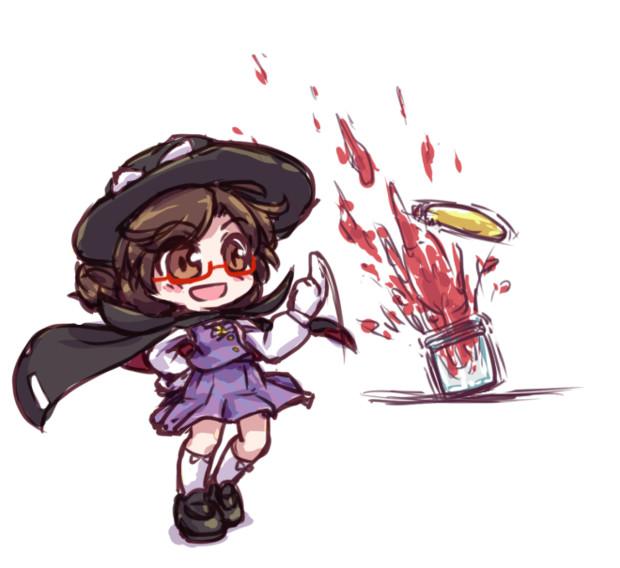 ジャムのフタを開ける菫子