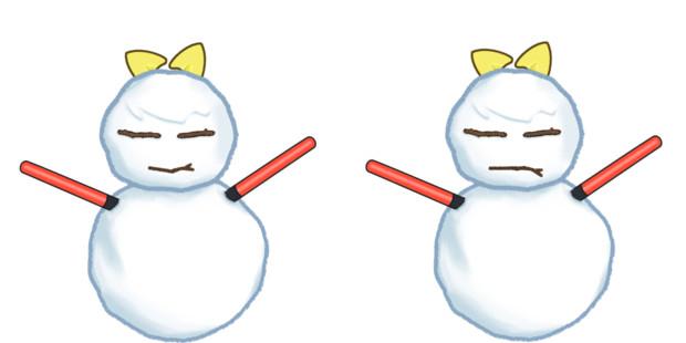 雪だるまと化したDIYUSI