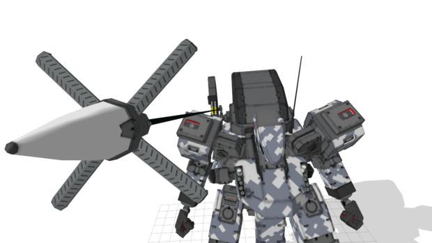 背部用武装ハンガー(ワイヤーアンカー装備型)