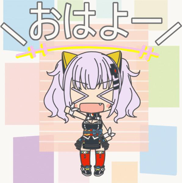 輝夜月ちゃん挨拶GIFアニメ
