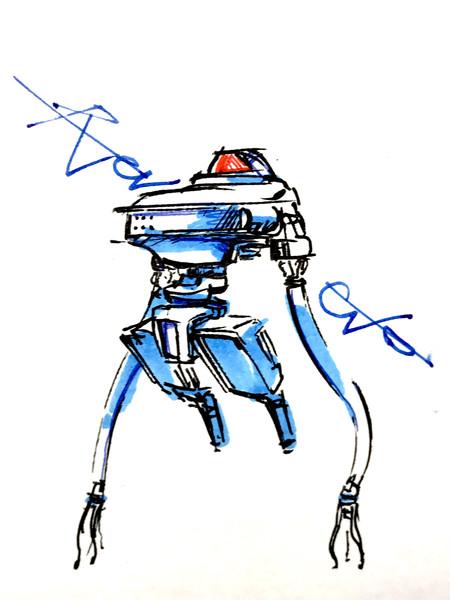 脚が退化したロボット