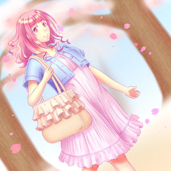桜カラーな創作子