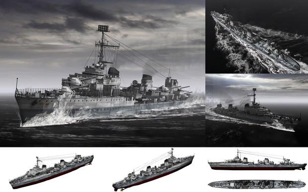 MMD用モブ駆逐艦1940(ル・モブオンファン)セット