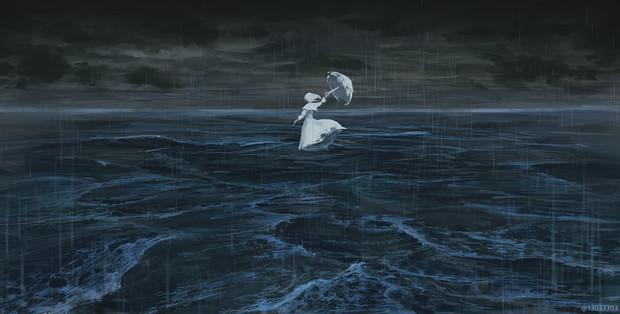 太平洋では雨が降っている