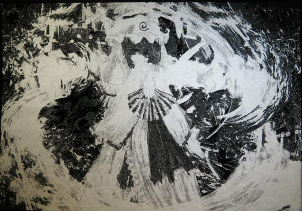 【切り絵】西行寺幽々子【貼り絵】