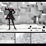 【MMD-OMF8】cuboidステージtype2
