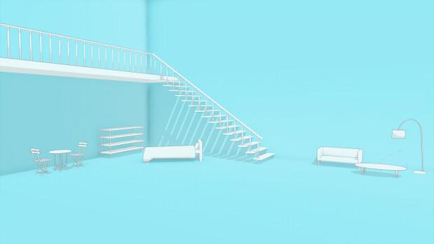【MMD-OMF8】シンプルな部屋Ⅲ
