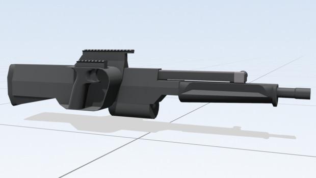 【MMD-OMF8】PAW-20 20mmグレネードランチャー【配布】