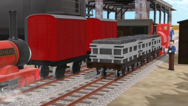 【OMF8】こうざん鉄道の貨車たち【配布あり】