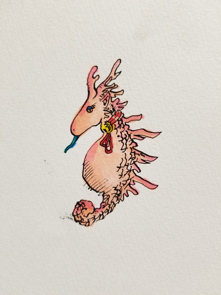 ピンクノオトシドコロ 一発描き