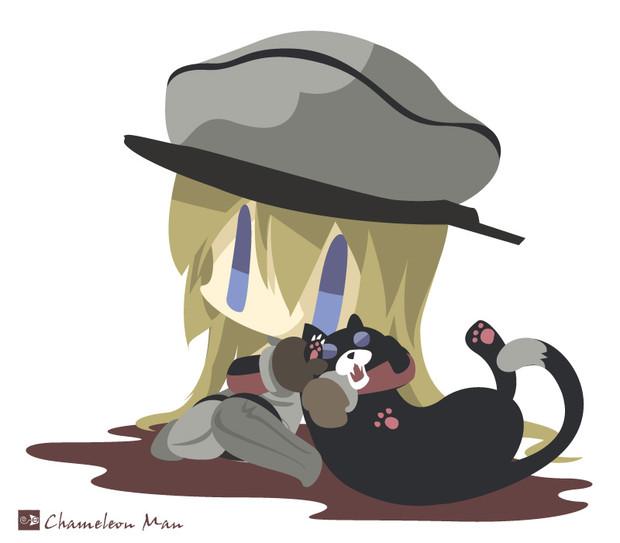 ネコに甘えられていると思っているビスマルク
