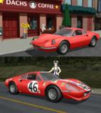 【MMD】Dino 246gt バージョン2【モデル配布】