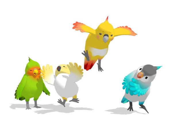 MMD用踊る鳥