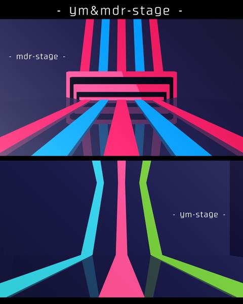 【MMDステージ配布あり】 ym&mdr-stage