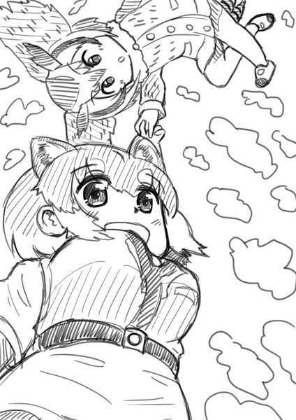 空を飛ぶイエイヌ