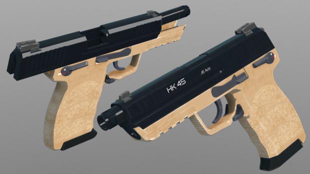 【配布あり】HK45T 更新【MMD銃火器】