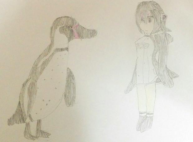 フンボルトペンギンとフルル