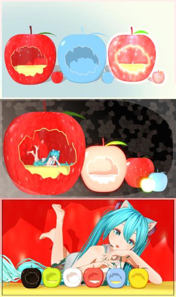 【MMD】リンゴのベッド【アクセサリ配布】