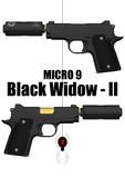 【MMD銃火器配布】Micro9 Black Widow - II