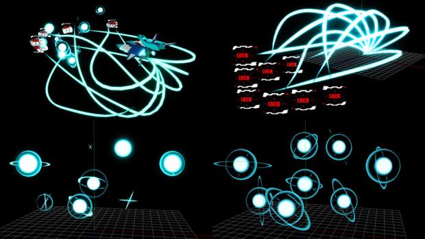 【MMD】なんちゃってホーミングレーザーとスプレッド(エフェクトモデル)