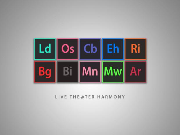 Adobe風なLIVE THE@TER HARMONY