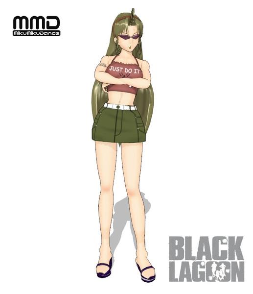【MMDブラック・ラグーン】エダ私服バージョン【モデル配布】