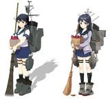 潮【MMD艦これ改造モデル】比較(左頬式 改変)