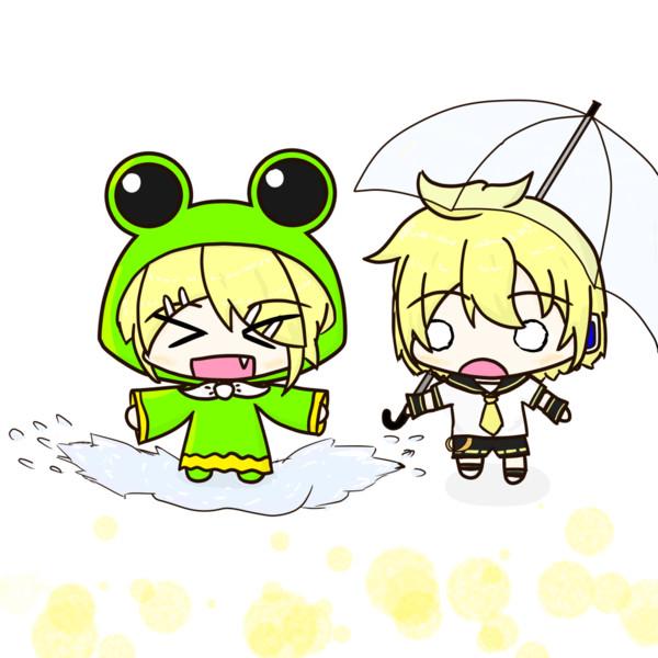 雨の日のリンちゃん、レン君
