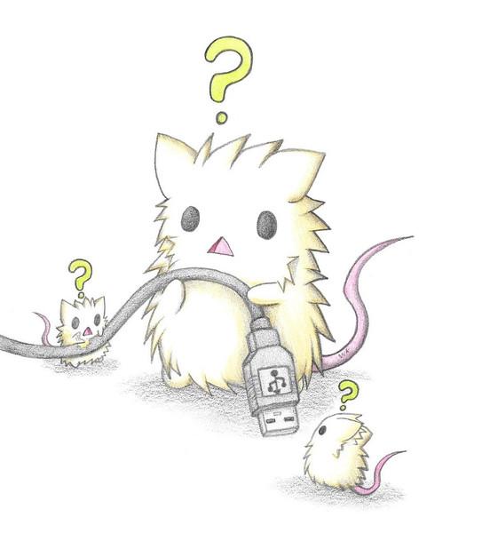 コードが気になるネズミ達