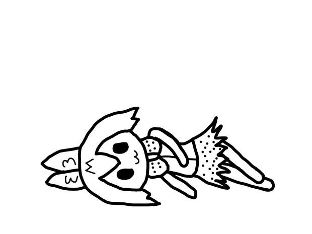 居眠りしてるサーバル(非透過)