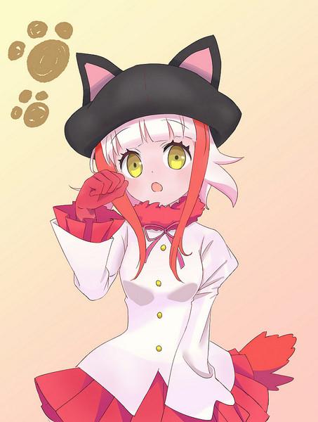 猫科のフレンズごっこをするトキちゃん