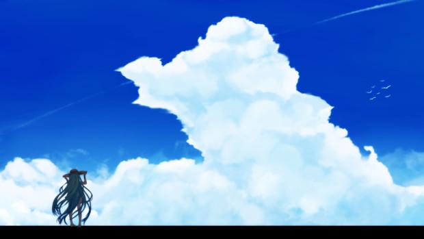 ねぇ、グラン。この空は何処まで続いてるんでしょうか?