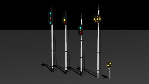 鉄道用信号機セット