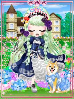 私、今度も水色の姿てワンコ×くんくんと一緒にアンニュ~イ咲く洋館アリスの薔薇園~